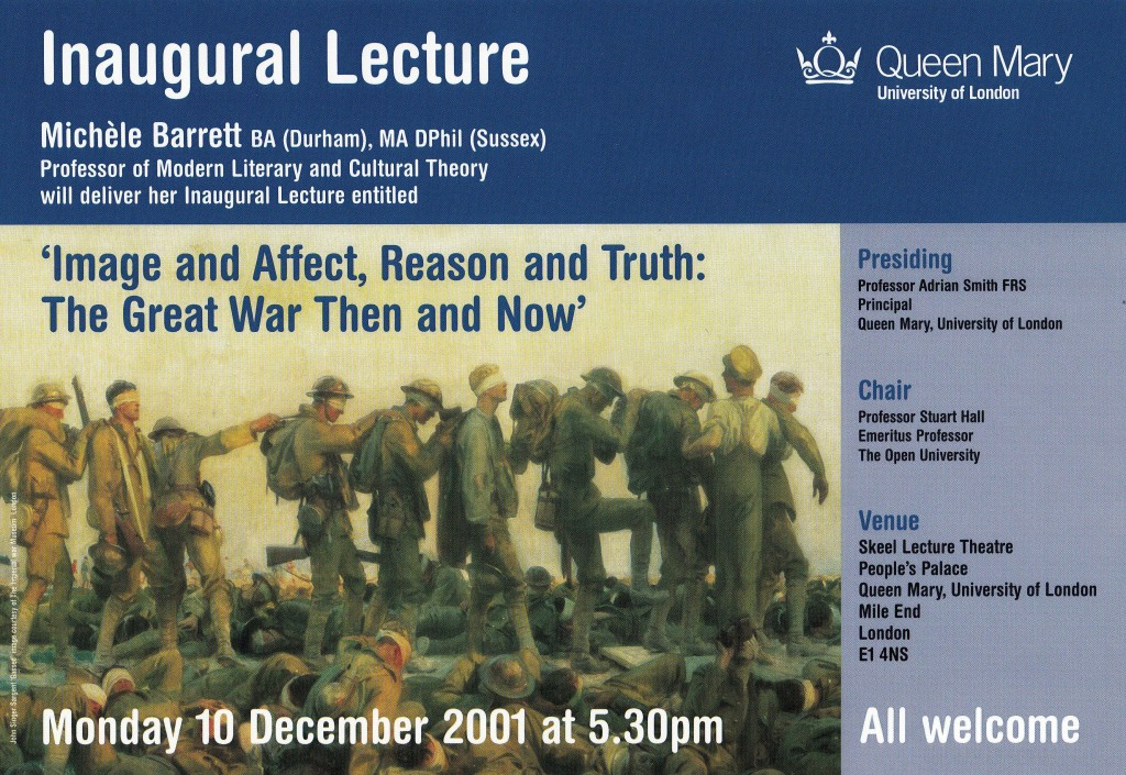 Inaugural Lecture poster